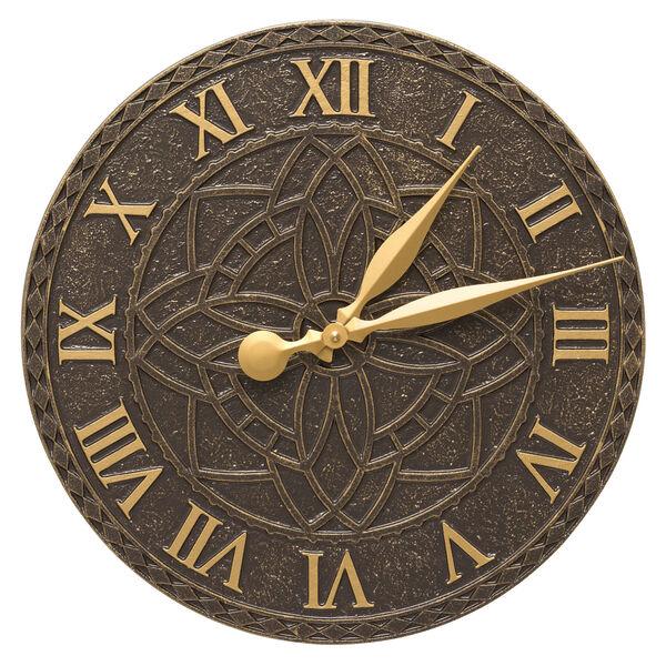 Artisan French Bronze Indoor Outdoor Wall Clock, image 1