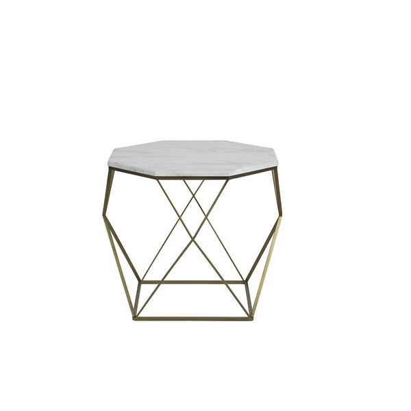 Kristie Volakas Marble And Dark Bronze End Table, image 1