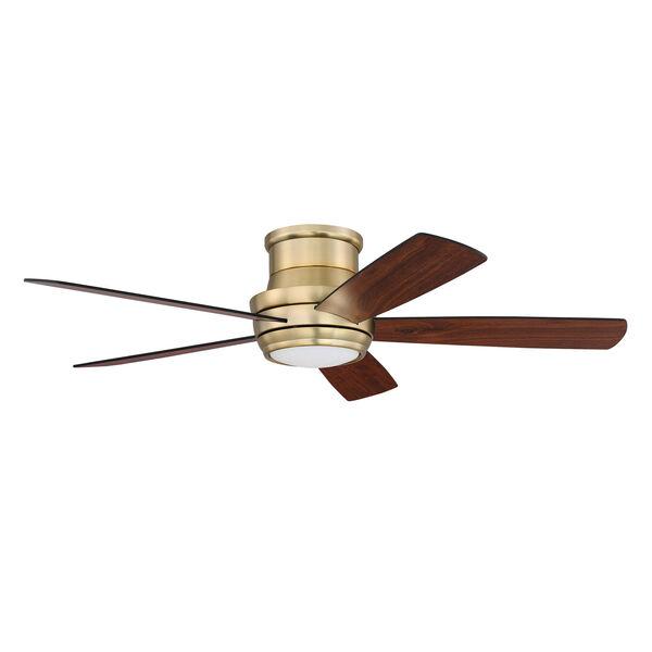 Tempo Hugger Satin Brass Led 52-Inch Ceiling Fan, image 1