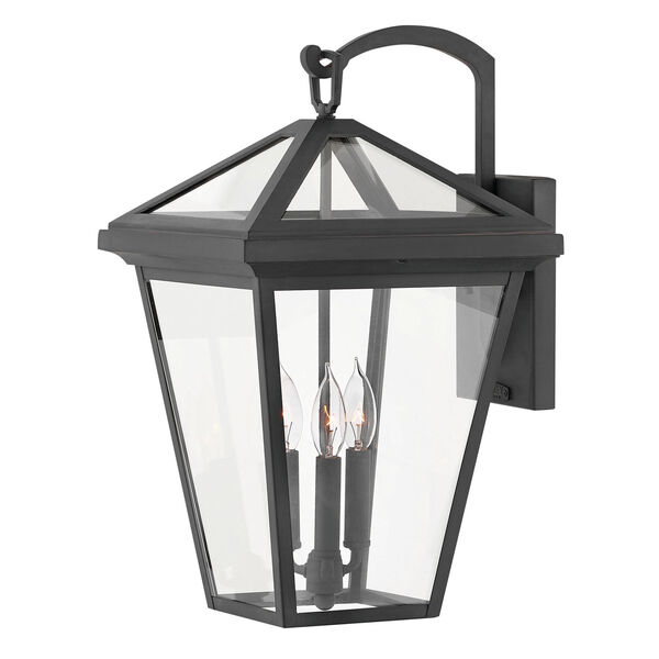 Alford Place Museum Black Three-Light Outdoor Large Wall Mount, image 1