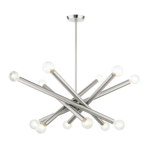 Stafford Brushed Nickel 12-Light Chandelier, image 4