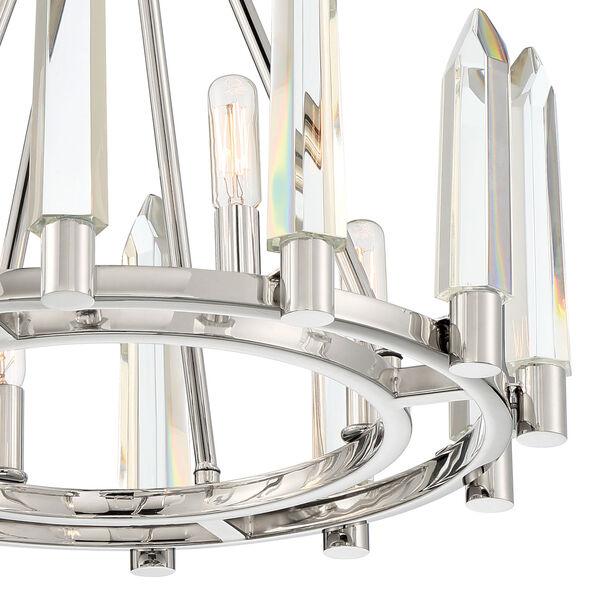 Watson Polished Nickel Four-Light Semi-Flush Mount, image 3