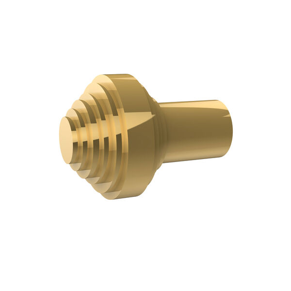Style SB-9 Polished Brass Designer Cabinet Knob, image 1