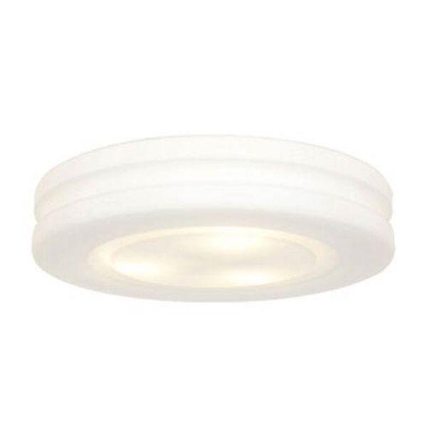 Aero II White Three-Light OPL Glass Flushmount, image 1