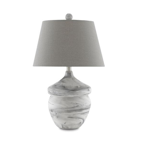 Vitellina White Gray One-Light Table Lamp, image 2