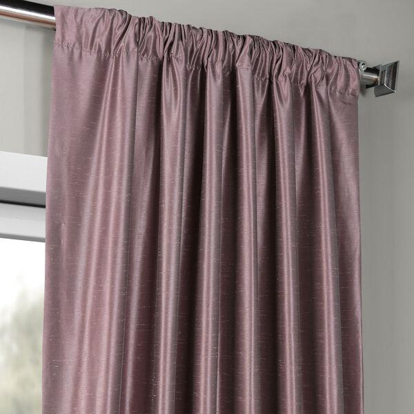 Smoky Plum Vintage Textured Faux Dupioni Silk Single Panel Curtain, 50 X 108, image 3