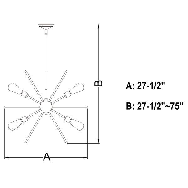 Estelle Matte Black 12-Light Pendant, image 6