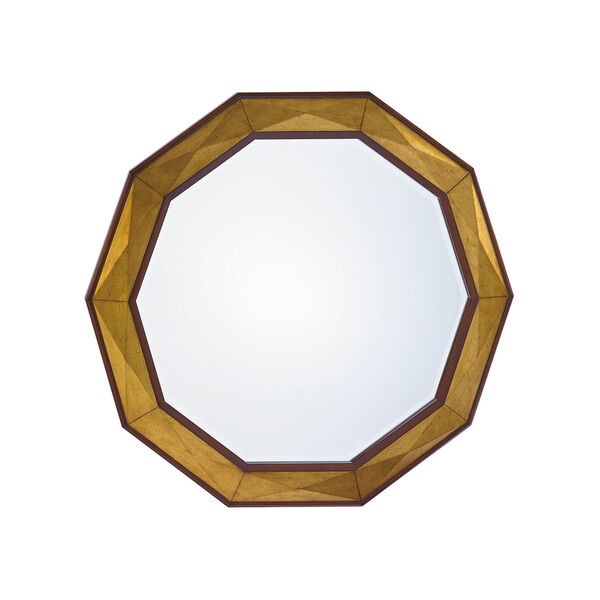 Take Five Brown Savoy Round Mirror, image 1