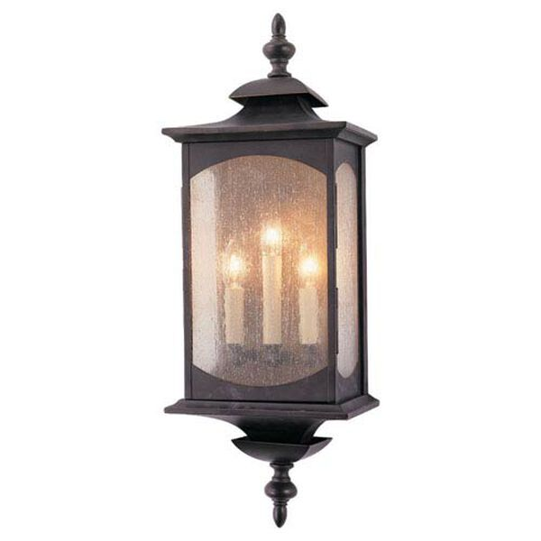 Kahler Rubbed Bronze Three-Light Outdoor Wall Mount, image 1