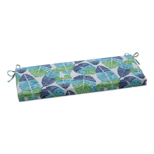 Hixon Blue Green Tan Bench Cushion, image 1