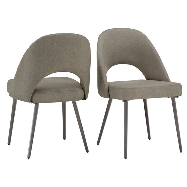 Xavier Gray and Black Dining Chair, Set of Two, image 6