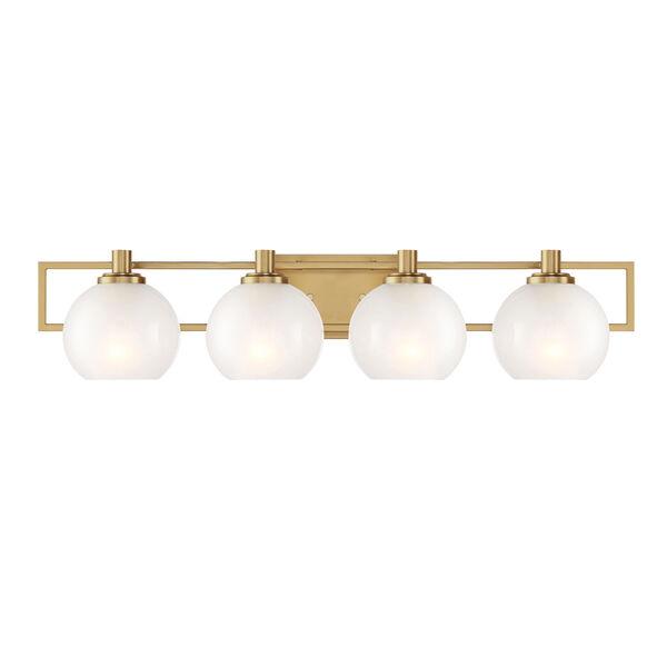 Cowen Brushed Gold Four-Light Bath Vanity, image 1
