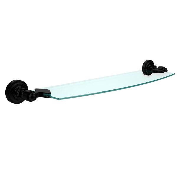 Dottingham Matte Black 18 Inch Single Glass Shelf, image 1