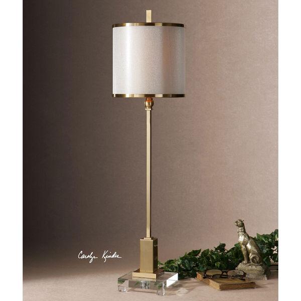 Villena Brush Brass One-Light Buffet Lamp, image 2