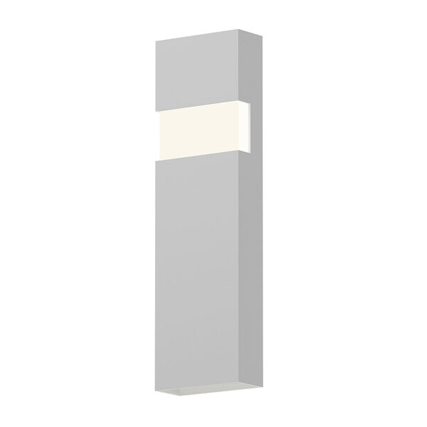 Inside-Out Band Textured White 21-Inch LED Wall Sconce with White Optical Acrylic Diffuser, image 1