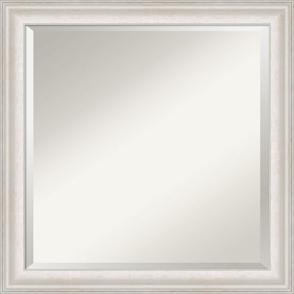 Trio White and Silver 24W X 24H-Inch Bathroom Vanity Wall Mirror, image 1