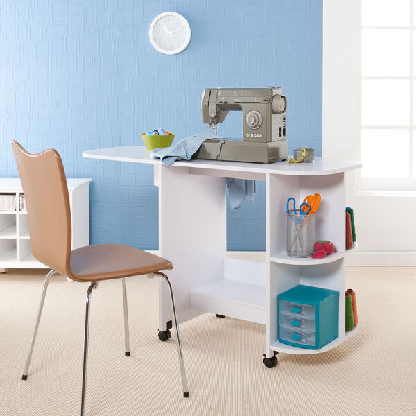 White Sewing Table, image 1