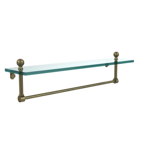 Antique Brass 22 Inch Single Shelf with Towel Bar, image 1