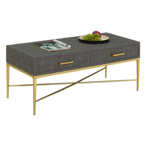 Gray and Gold 18-Inch Ashley Coffee Table, image 3