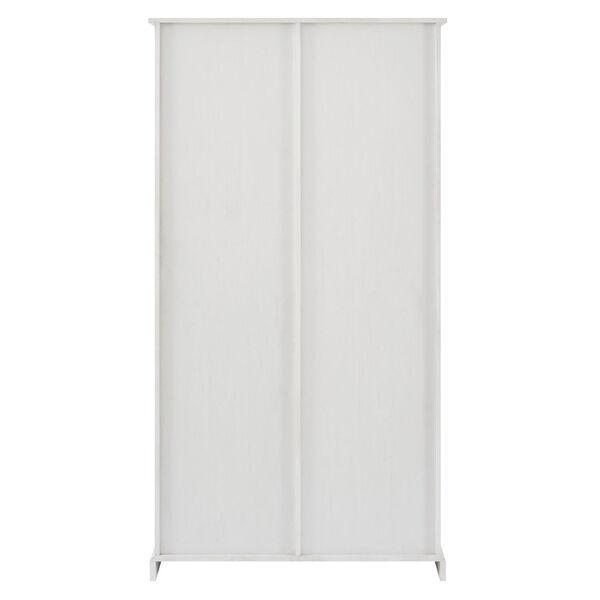 Barn Door Brushed White Storage Cabinet, image 6