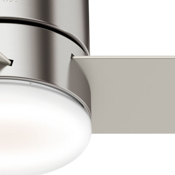 Minimus Low Profile Brushed Nickel 44-Inch LED Ceiling Fan, image 6