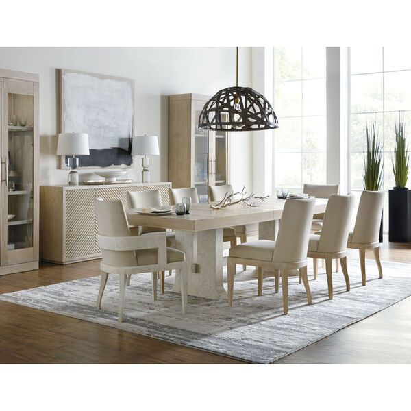 Cascade Taupe Rectangle Dining Table with One 22-Inch Leaf, image 6