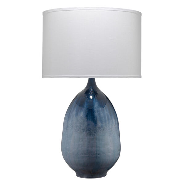 Twilight Blue Ombre Enameled Metal One-Light Table Lamp, image 1