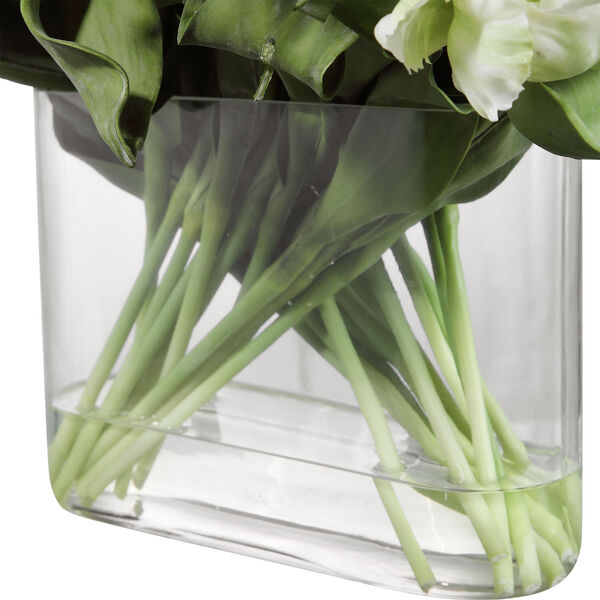 Kimbry White Tulip Centerpiece, image 3