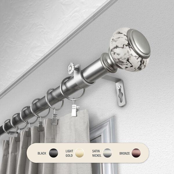 Kelly Satin Nickel 28-48 Inch Curtain Rod, image 1