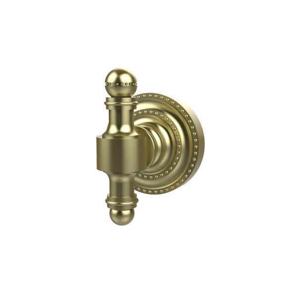 Retro-Dot Satin Brass Utility Hook, image 1