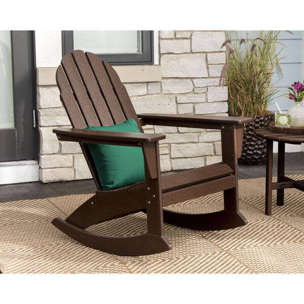 Vineyard Mahogany Adirondack Rocking Chair, image 2