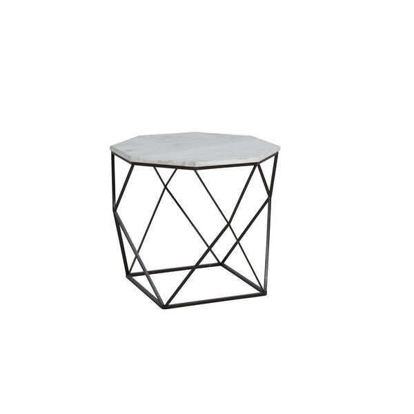 Kingstone Volakas Marble And Dark Bronze End Table, image 2