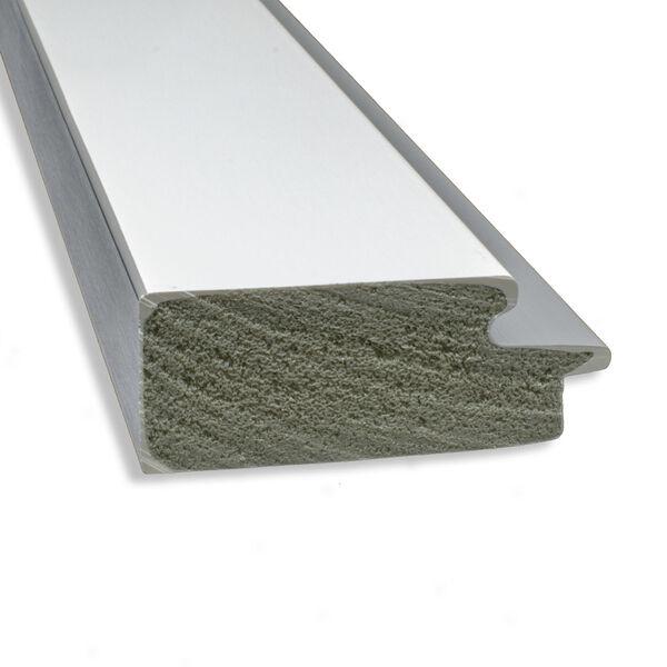 Eva White and Silver 29W X 65H-Inch Full Length Floor Leaner Mirror, image 4