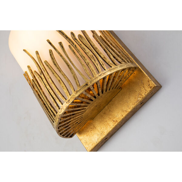 Sawgrass Gold Leaf with Antique One-Light Wall Sconce, image 3