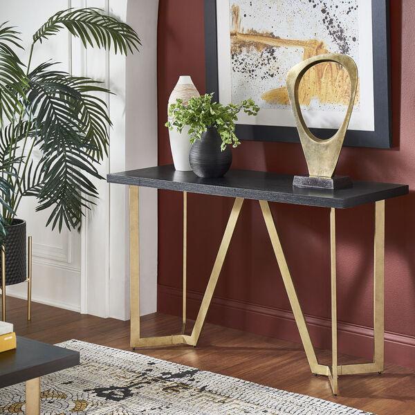 Helena Black and Gold Sofa Table, image 6
