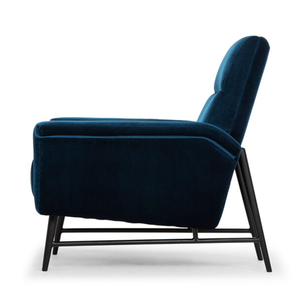 Mathise Midnight Blue and Black Occasional Chair, image 3