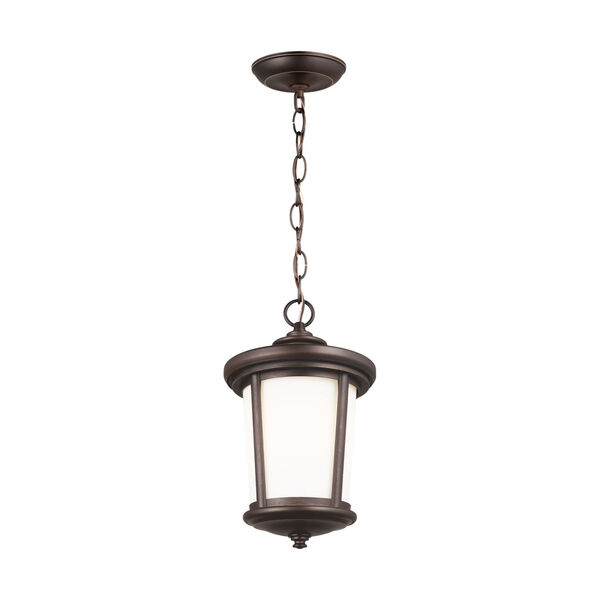 Eddington Antique Bronze One-Light Outdoor Pendant with Cased Opal Etched Shade, image 2