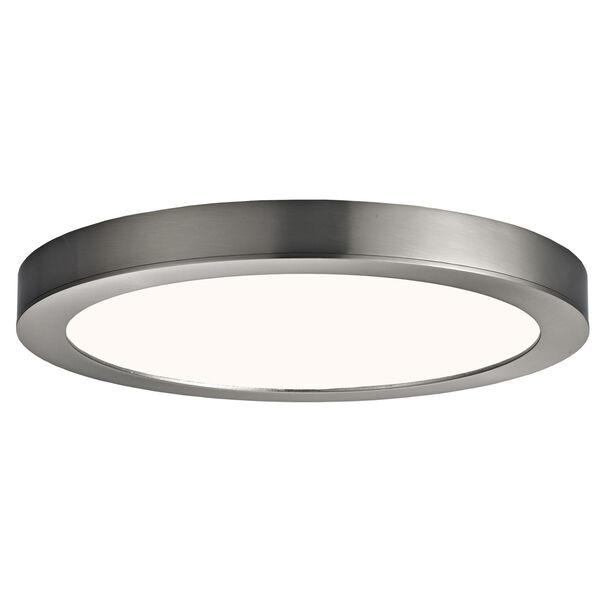 Brushed Nickel 11-Inch LED Flush Mount, image 1