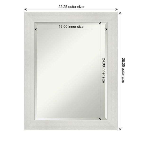 Mosaic White 22W X 28H-Inch Bathroom Vanity Wall Mirror, image 6