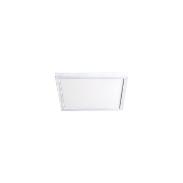 White 7-Inch 3500K LED ADA Square Flush Mount, image 1