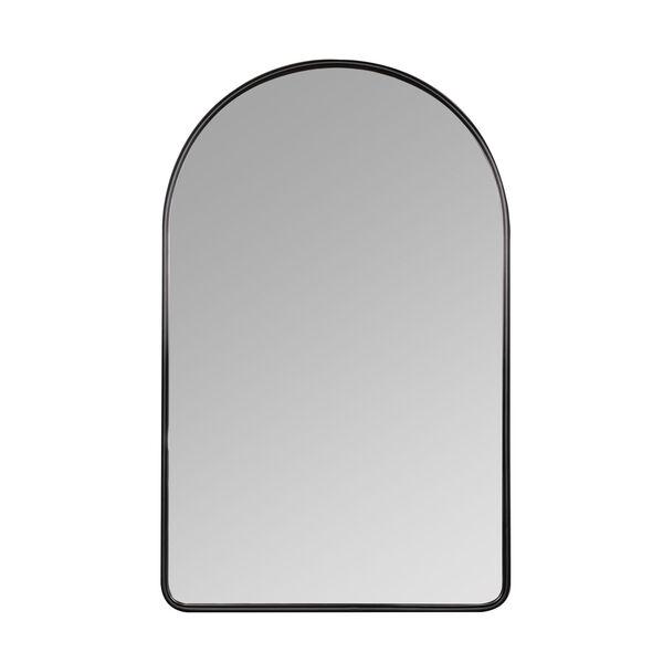 Sebastian Black 38-Inch Arched Wall Mirror, image 2