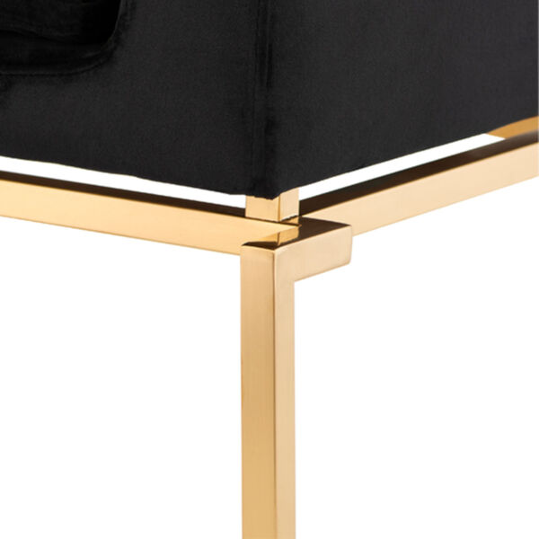 Savine Black and Brushed Gold Dining Chair, image 4