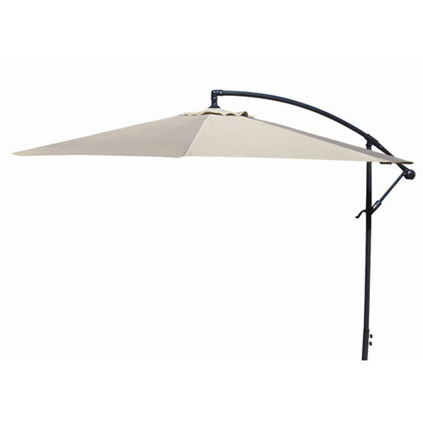 Offset Umbrellas Natural 10-Foot Steel Offset Umbrella, image 1