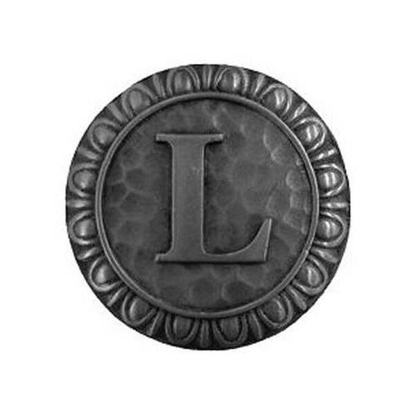 Antique Pewter 'L' Knob , image 1