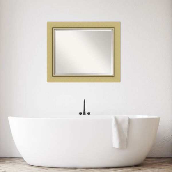 Landon Gold 34W X 28H-Inch Bathroom Vanity Wall Mirror, image 3