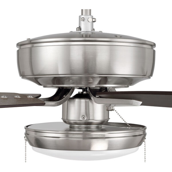 Pro Plus Brushed Polished Nickel 52-Inch LED Ceiling Fan with Frost Acrylic Pan Shade, image 6