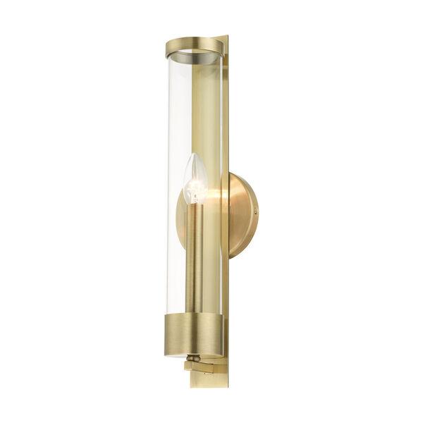 Castleton Antique Brass One-Light ADA Wall Sconce, image 4