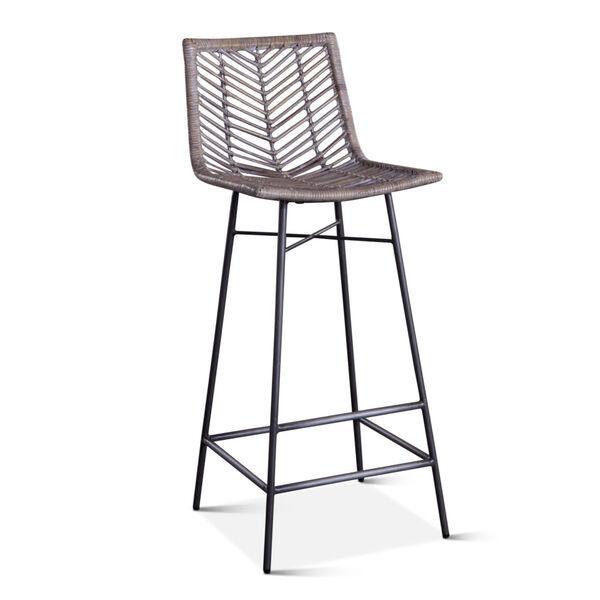 Bali Gray Whitewash Bar Chair, Set of 2, image 2