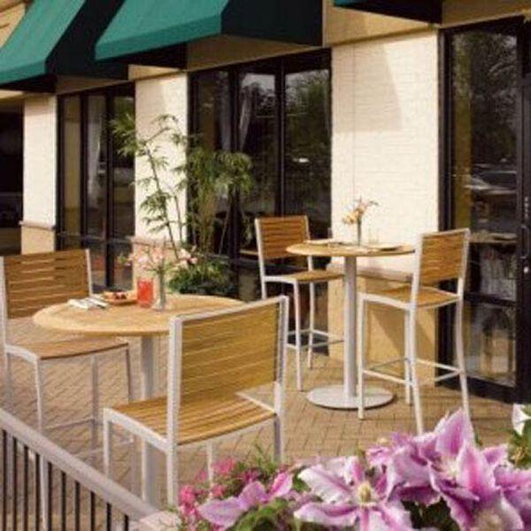 Travira Natural Teak Bar Chair, image 2