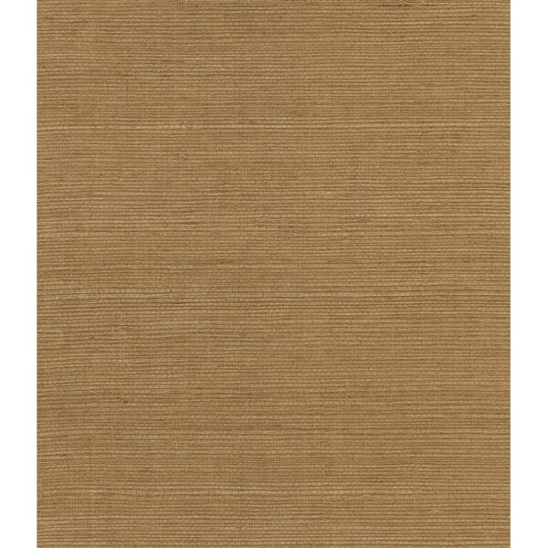Lillian August Luxe Retreat Golden Walnut Sisal Grasscloth Unpasted Wallpaper, image 1
